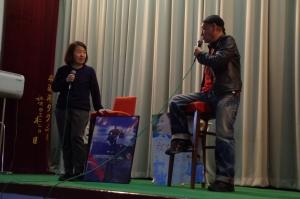泉谷しげる氏と「女たちの都~ワッゲンオッゲン~」プロデューサー小泉朋氏によるトークショー
